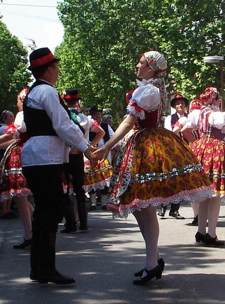 Voivodina Hungarians national costume and dance.