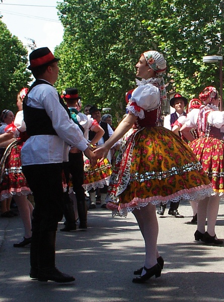 Voivodina Hungarians national costume and dance.