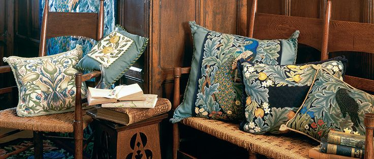Designs for cushions and pillows, from Beth Russell Needlepoint