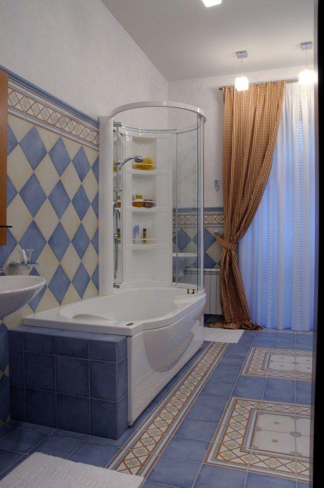 badewanne mit dusche intergriert – 32 raumsparideen für