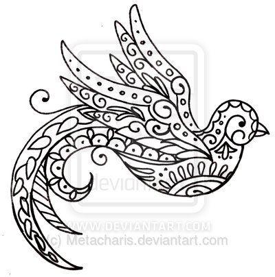 Paisley Bird Tattoo by ~Metacharis on deviantART  | followpics.co