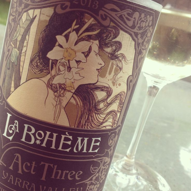 Fabulous drop from La Boheme. Love the La Boheme act 3 and what an awesome label #wine #yarravalley
