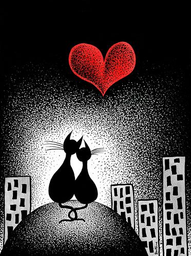 Felines in love.