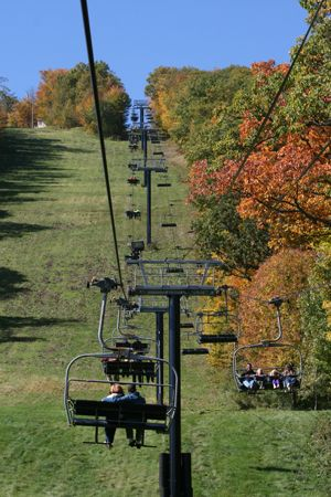 Bristol Mountain Fall Sky Rides - check out the foliage in a way like no other. Did this today, so pretty.