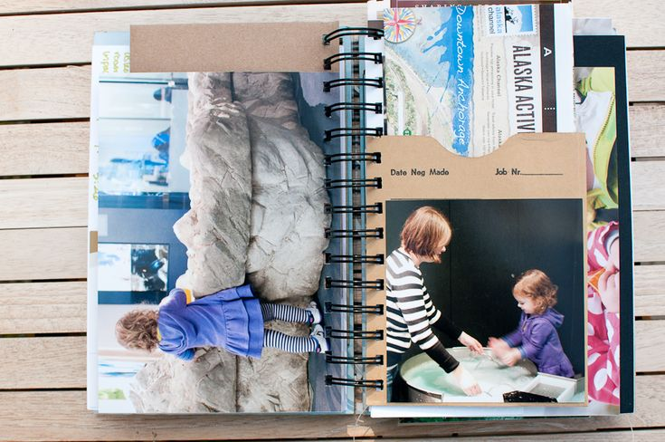 travel mini book using a Zutter Bind It All.  she also did the Ali Edwards Scrapbook On The Road class.