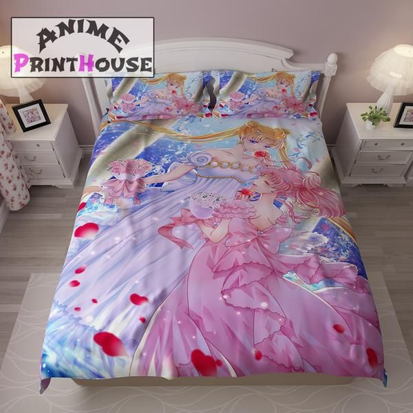 Sailor Moon Bedding Set Duvet Cover Blanket Sailor Moon