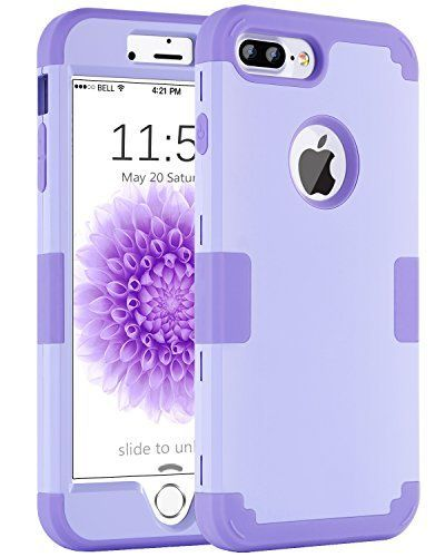 862571a7aea iPhone 8 Plus Case iPhone 7 Plus Case BENTOBEN Drop Protection Anti-scratch  3 in 1 Hybrid Hard PC Soft Rubber Shockproof Slim Phone Case for iPhone 8  Plus ...