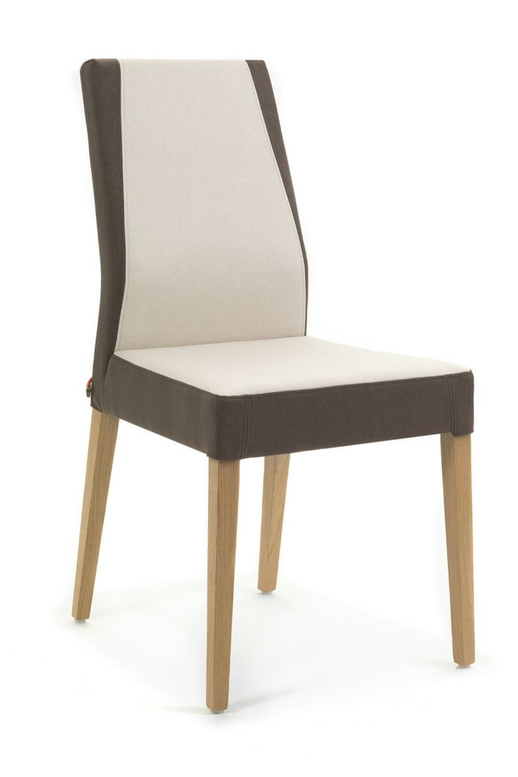 KEN design bicolor chair by Mobitec. Choose 2 colours from a large catalogue. Also available with a leather cover.