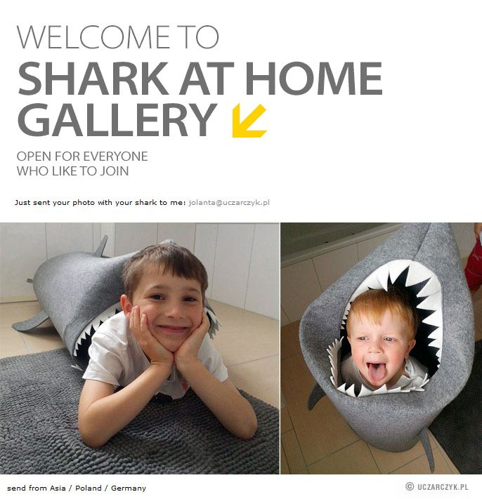Shark At Home Gallery. © SHARK. Felt laundry basket for bathroom or children's room as a basket for toys from Uczarczyk. http://uczarczyk.pl/index.php?/felt/shark/