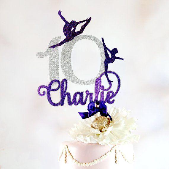 Gymnastics Cake Topper Cake Topper With Name Gymnastics Party Decor