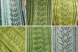 Column of leaves; free knitting pattern