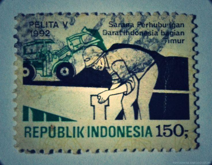 perangko Pelita V tahun 1992 (Rp 150)