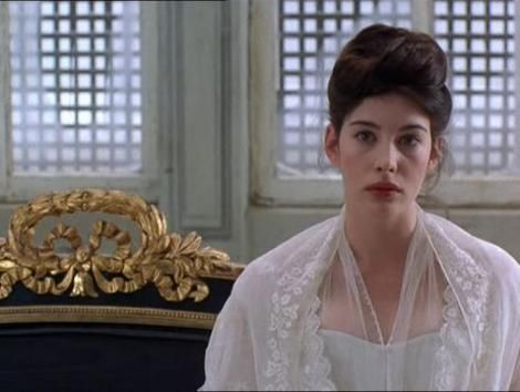 """The idealist, Tatyana (played by Liv Tyler), symbolized innocence in the story which was destroyed by Eugene. My favorite line of hers in this scene is """"Am I noble enough for you now?"""". The winter and opulent buildings in St. Petersburg was beautifully captured. I wish my was long enough to pull off this updo.  Movie still from Onegin (1999) by Martha Fiennes, Samuel Goldwyn Films."""