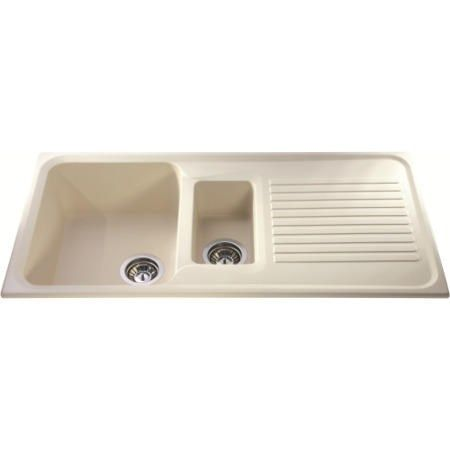 Buy CDA AS2CM Asterite Composite 1.5 Bowl Sink Cream from Appliances Direct - the UK's leading online appliance specialist