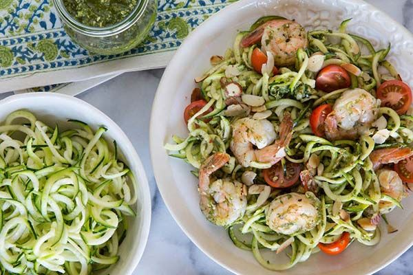 Summer Eats: Zucchini Noodles with Grilled Shrimp - The Honest Company Blog