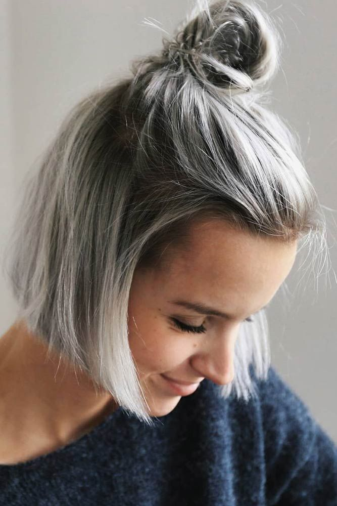 Short Hairstyle Ideas For Busy Moms In 2020 Grey Hair Dye Hair Styles Short Hair Styles