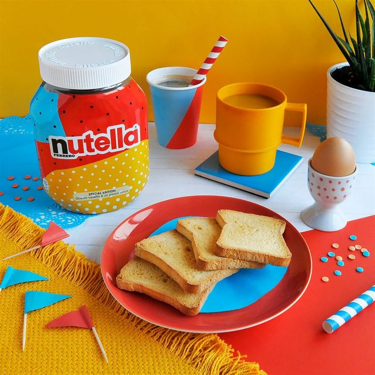 Nutella Unica packaging design. Generative system pulls from a database of dozens of patterns and colours to create seven million different versions of Nutella's graphic identity, which have been splashed across the front of jars in Italy.