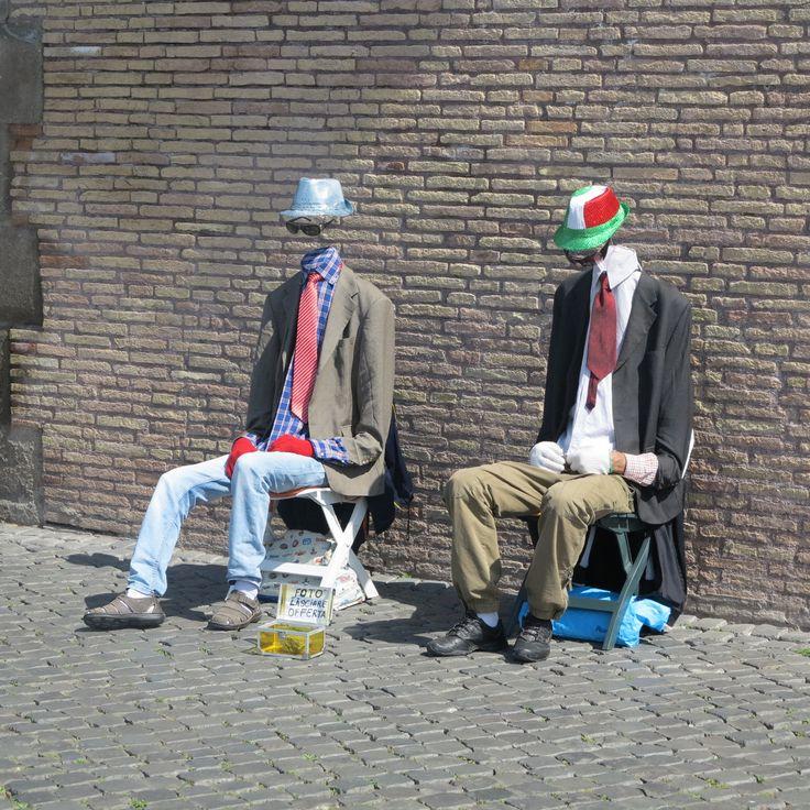 street artist in Rome