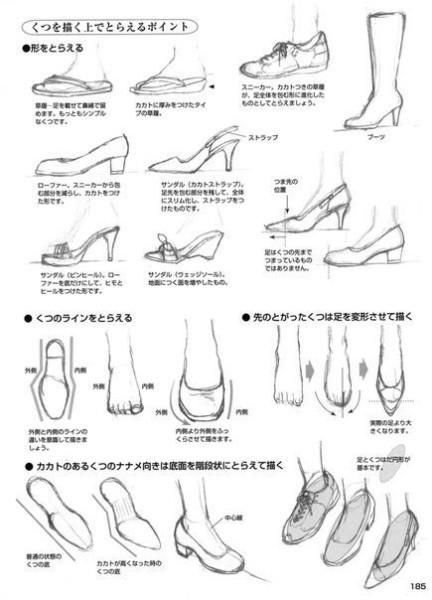 Аниме рисуем обувь