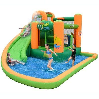 Kidwise Endless Fun 11 in 1 Inflatable Bounce House and Water Slide Combo by…