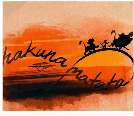 Hakuna Matata!!!  The Lion King, I would love this as a tattoo!!!