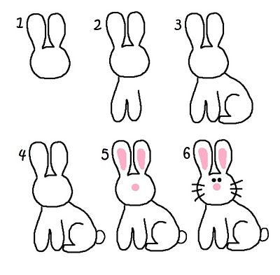How to draw a bunny- Re-pinned by @PediaStaff – Please Visit http://ht.ly/63sNt for all our pediatric therapy pins