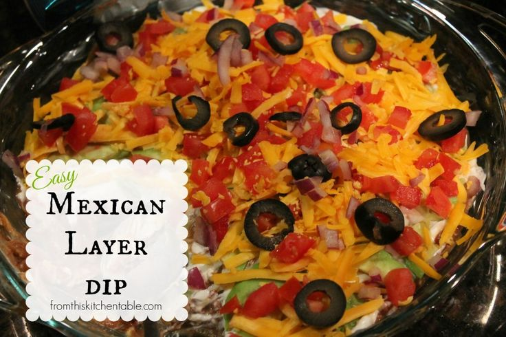 Easy Mexican Layer Dip. Super yummy and simple put everyone loves it ...