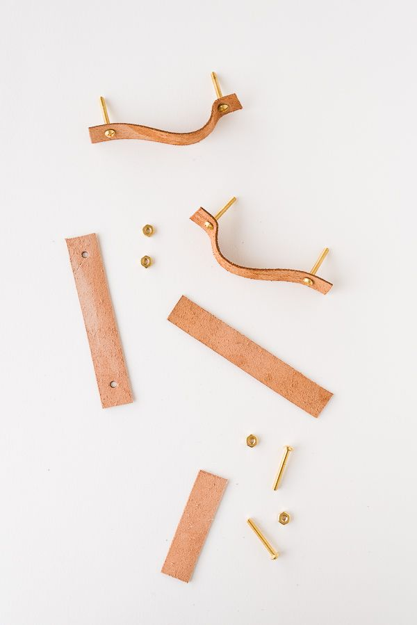 Pull It Together How To Make Leather Cabinet Pulls How To Make
