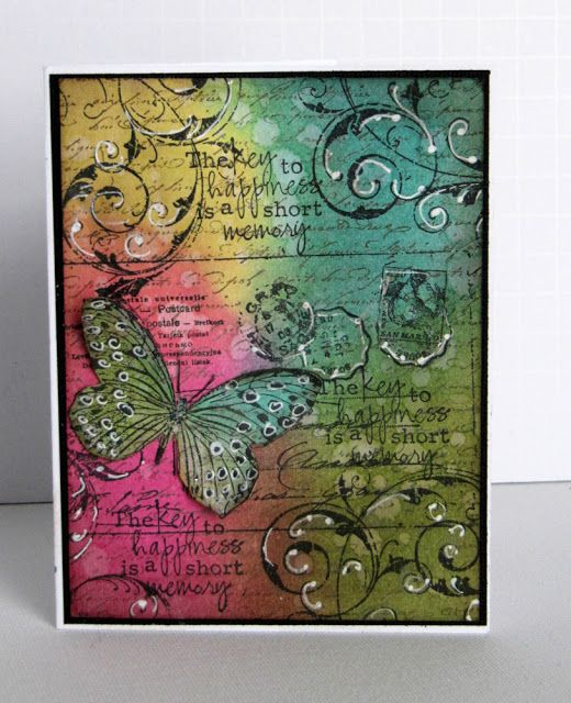 """""""Pearlescent Perfection"""" creations with Distress Inks and Perfect Pearls."""