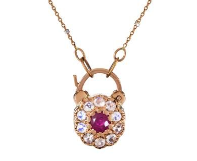 Arik Kastan - Blossom Padlock Necklace in Necklaces Pendants at TWISTonline
