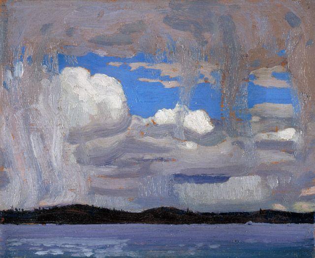 om Thomson Catalogue Raisonné | Snow Pillars in the Sky, Spring 1916