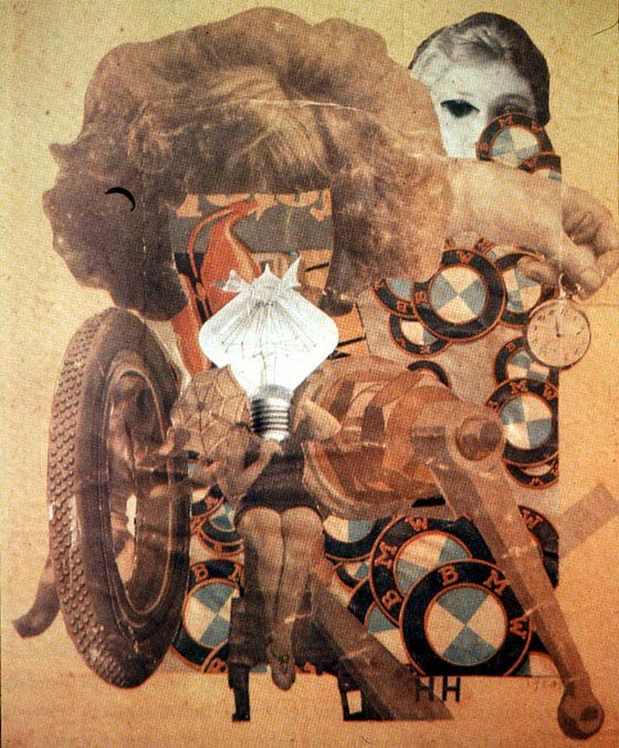 Hannah Höch's Das schöne Mädchen (The Beautiful Girl, 1919-1920) Fascinating  and she was most likely the only woman artist active in the Dada movement.