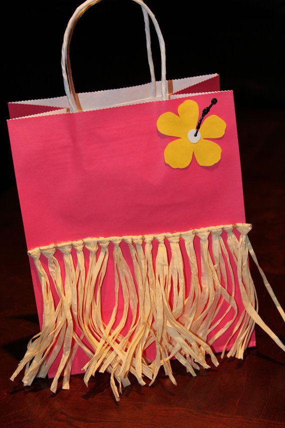 DIY Favor Box for a Hawaiian or Luau Party.