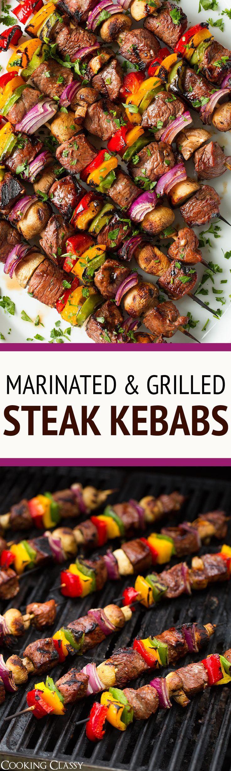 Steak Kebabs | Grilled Foods | Barbecue Party Food Ideas