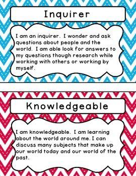 International Baccalaureate: IB Learner profile Attributes