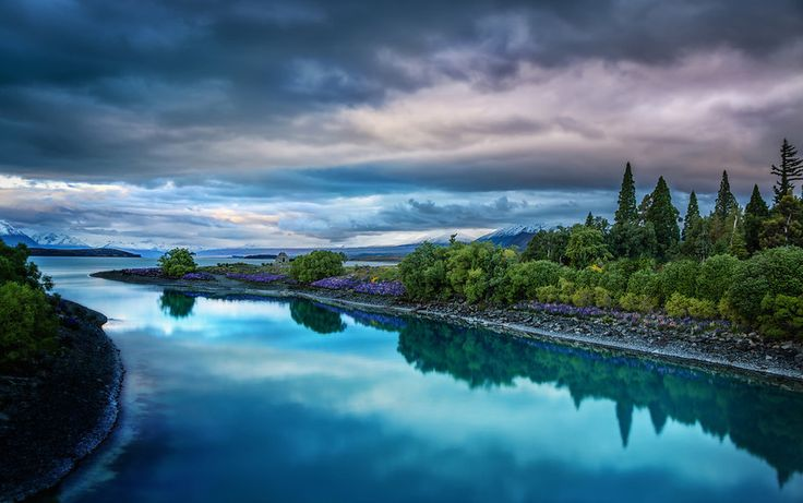 Evening on the blue Lake Tekapo, New Zealand Trey Ratcliff | Stuck