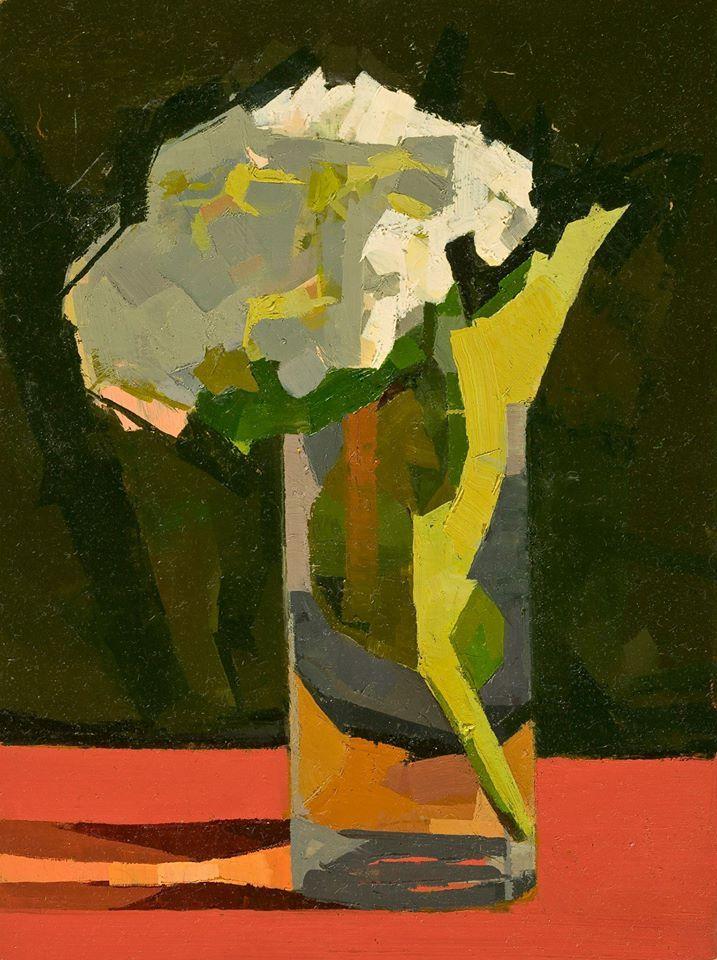 Catherine Kehoe – White Hydrangea (2012) oil on panel