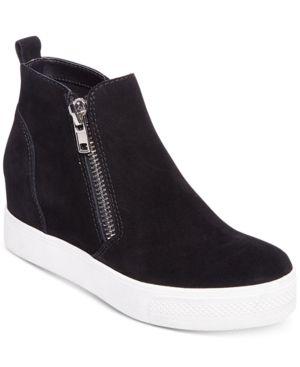 Steve Madden Women's Wedgie Wedge Sneakers - Black 6.5M