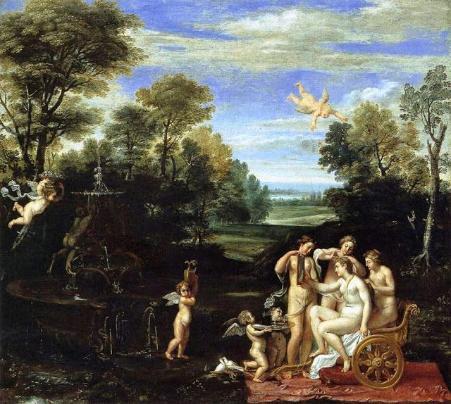 Τοπίο με την Αφροδίτη, μετά το μπάνιο της (1605-10)
