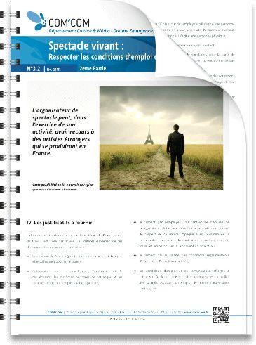 Spectacle vivant : Respecter les conditions d'emploi des étrangers en France | 2ème Partie