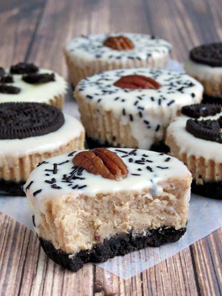 Mini Oreo Cheesecakes by Yummy Addiction