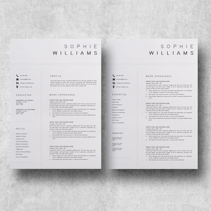 Resume Template CV Template Resume templates, Resume