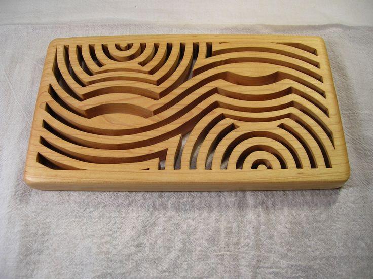 Contemporary Casserole Wooden Trivet T-3  #364 by BOARDSCROLLER on Etsy