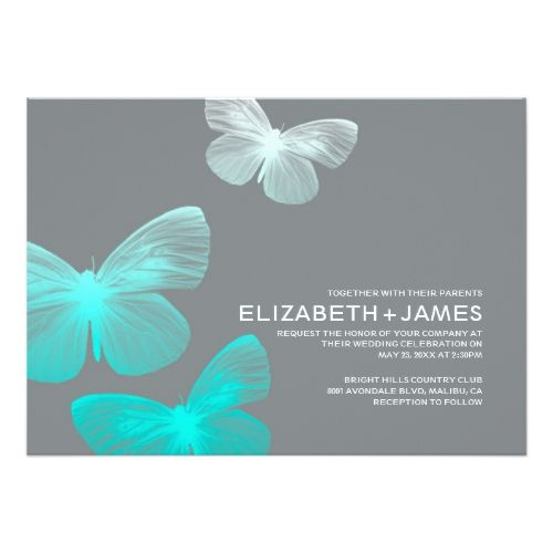 Butterfly Wedding Invitations Modern Butterfly Wedding Invitations