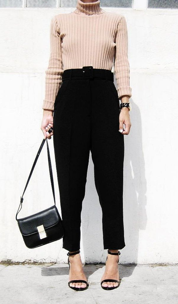 A Sweater, Loose Trousers, and Heels:
