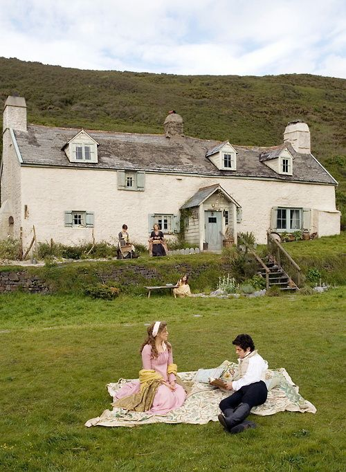 Sense and Sensibility - Barton Cottage. This is the cottage down from Hartland House. I've had a picnic right there too :) it overlooks the sea.