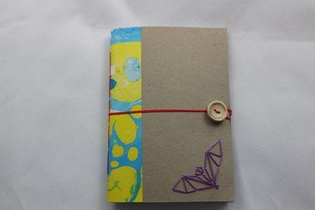 Α5 size, handmade notebook with lines  Α5 μέγεθος σημειωματάριο