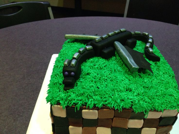 Phoenix Minecraft Birthday Cake