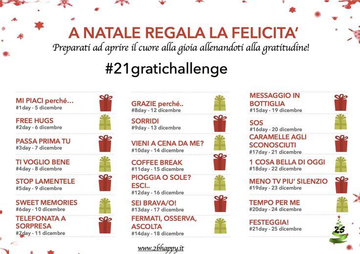 21 giorni per la felicità. Partecipa alla sfida della gratitudine!