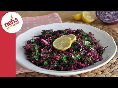Turşu Tadında Mor Lahana Salatası Yapımı - YouTube